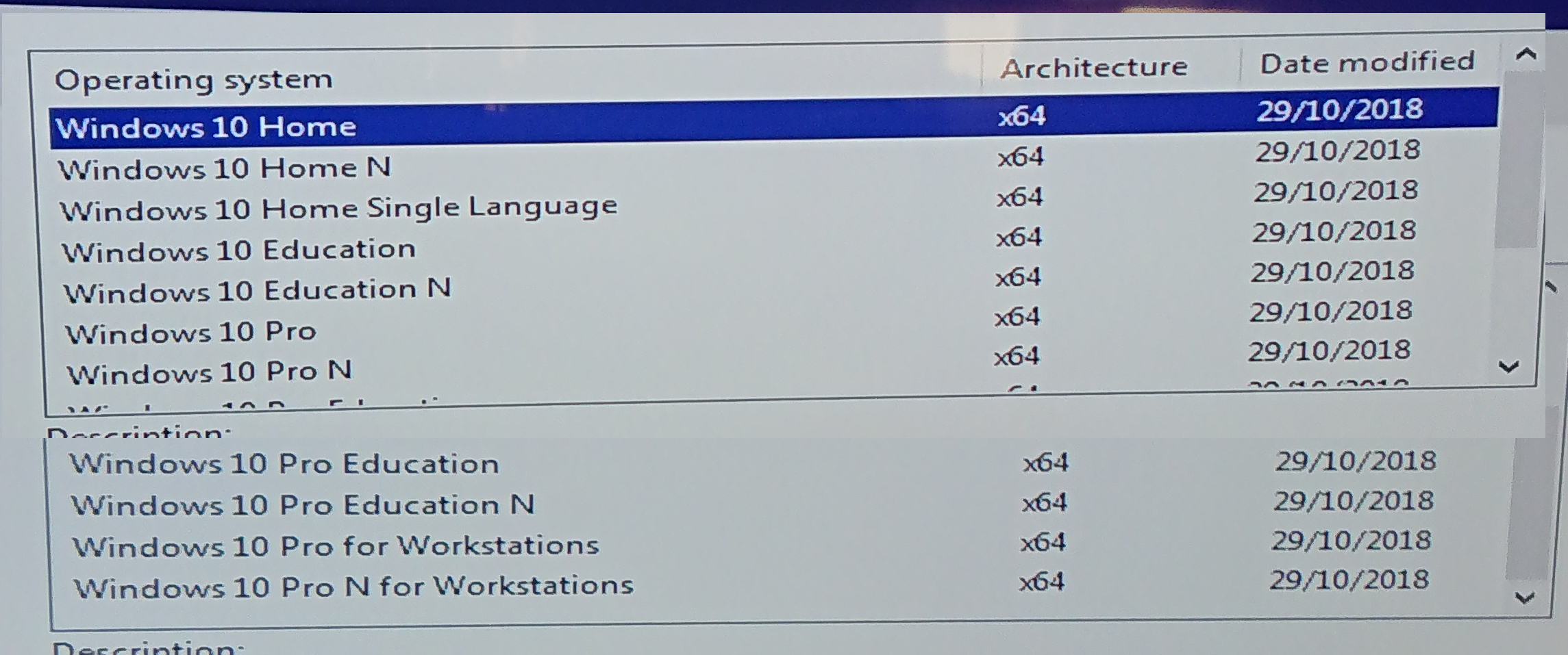 Can someone tell me which one of these is Windows 10 LTSC