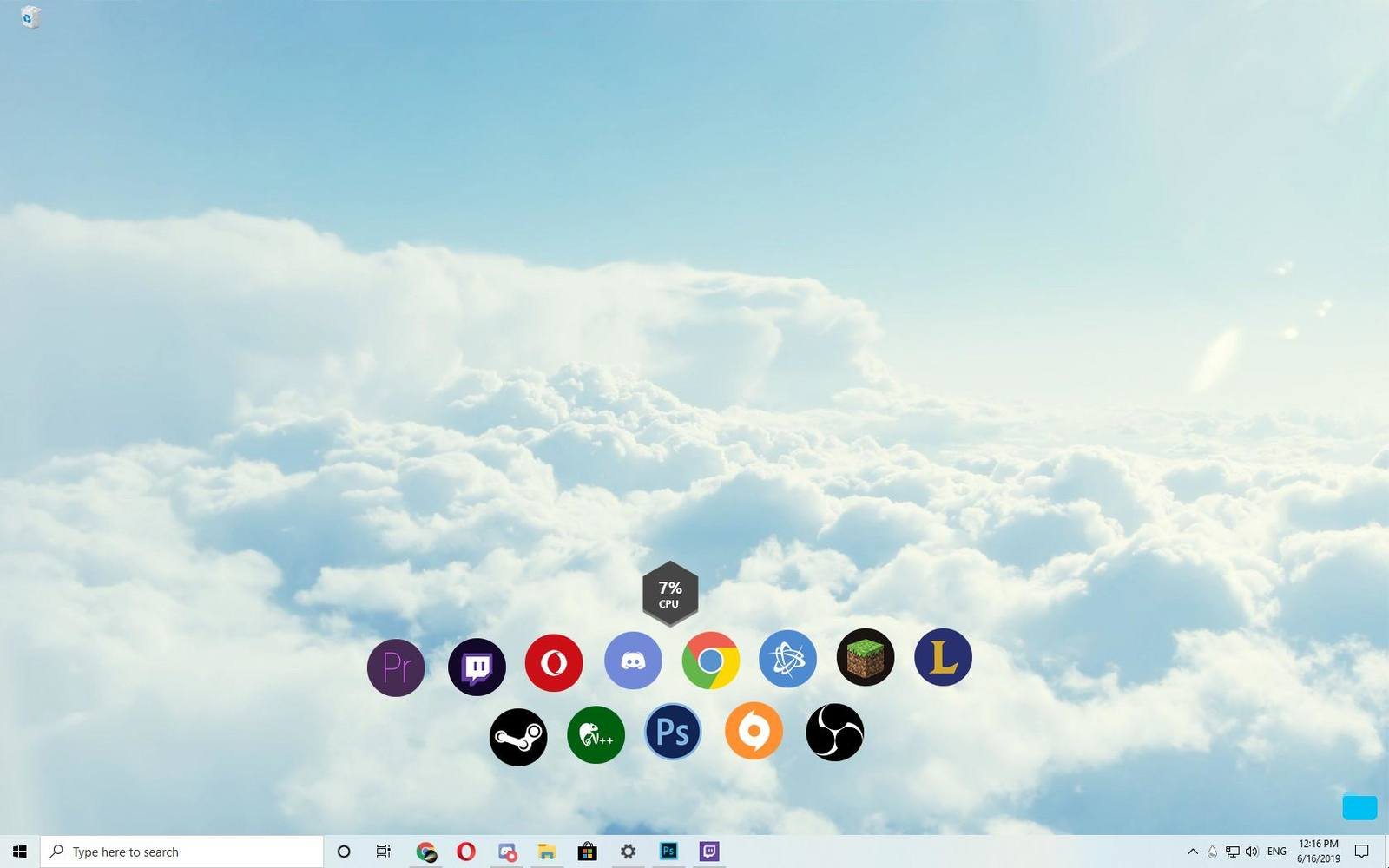 Clouds with Windows Light theme