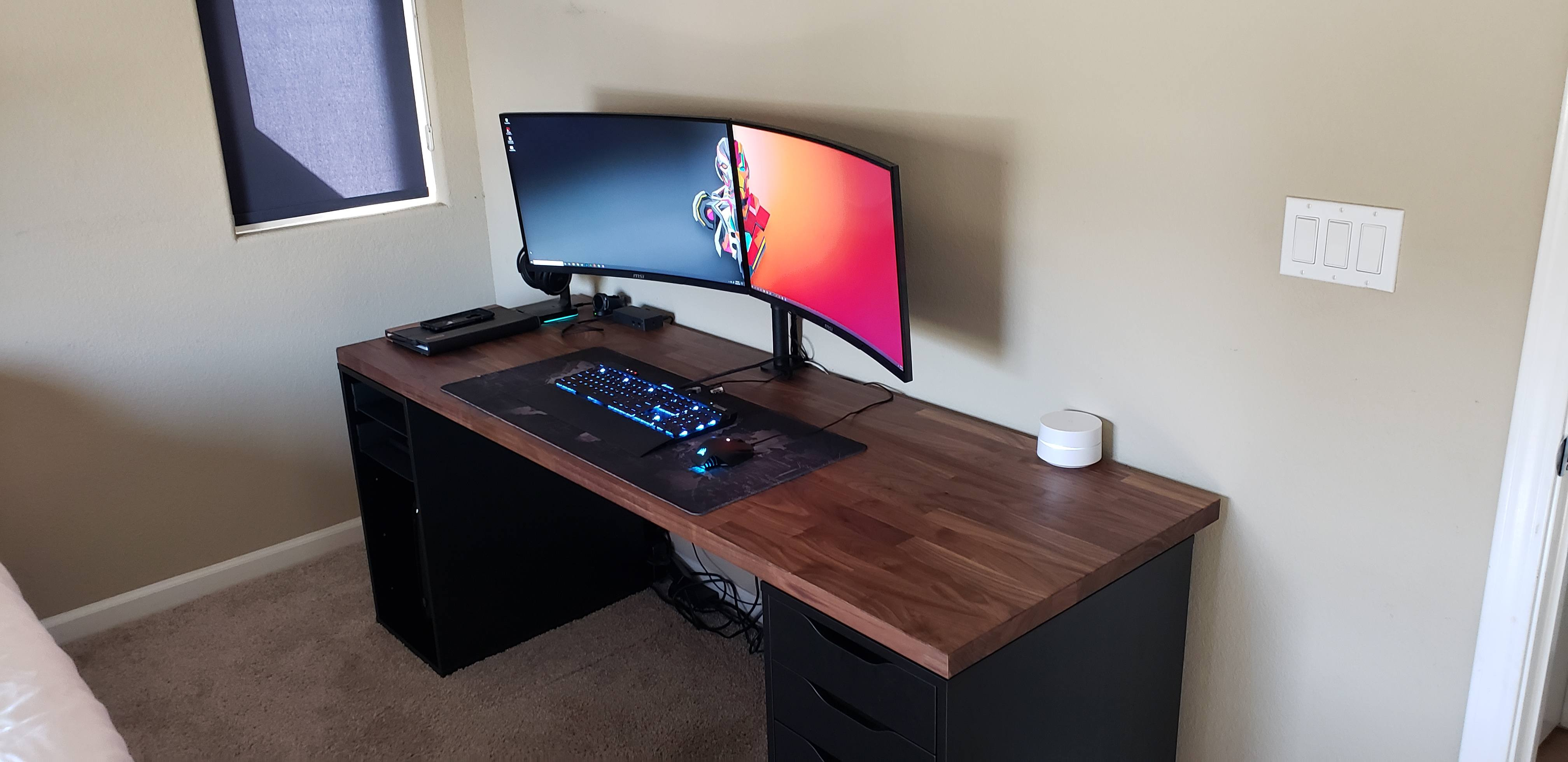 Ikea Desk Upgrade New Builds And