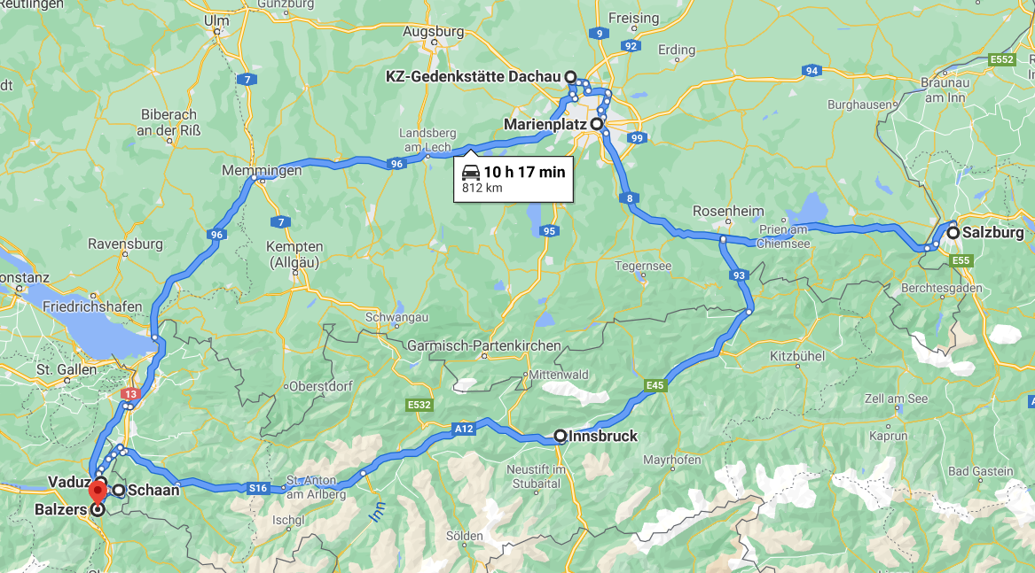 This is roughly the route we took