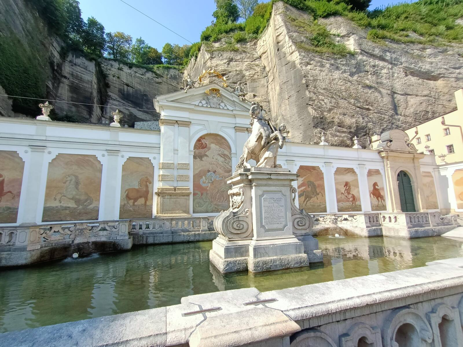 This is the Marstallschwemme, one of two Fountains from the 16th Century that are under Monument protection in Salzburg