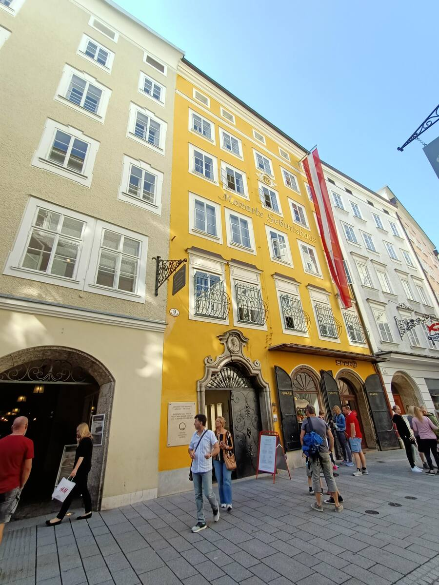 The Yellow House is where Mozart was born