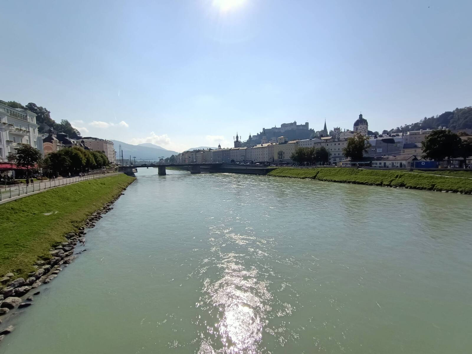 This is the river Salzach which goes through the City of Salzburg Austria